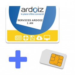 Services ARDOIZ + CARTE SIM  paiement annuel